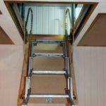 Размеры чердачной складной лестницы